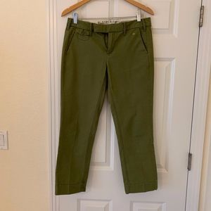 Anthropologie G1 Paper Twill Olive Green Pants